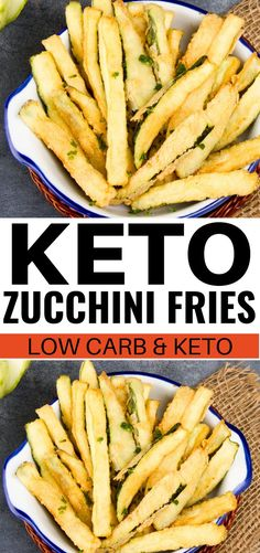 Keto zucchini fries made with almond flour for keto and low carb diets! These ke. Sam Tonkin Keto Keto zucchini fries made with almond flour for keto and low carb diets! These keto zucchini fries are THE BEST! I'm so glad I found this easy Low Carb Diets, Zucchini Pommes, Zucchini Fries, Healthy Zucchini, Zucchini Lasagna, Large Zucchini Recipes, Vegetable Recipes, Keto Lasagna, Zucchini Noodles