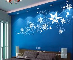 Big Abstract Flower  Vinyl Wall Decal Sticker by coolgraphicss, $49.00
