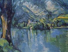 The Lac d'Annecy, 1896 by Paul Cezanne, Final period. Post-Impressionism. landscape. Samuel Courtauld Trust, The Courtauld Gallery, London, UK