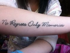 """No Regrets Only Memories"" Done by Justin at Adrenaline, BC, Canada."
