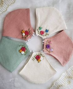 Hand Embroidery Videos, Embroidery Flowers Pattern, Simple Embroidery, Hand Embroidery Stitches, Hand Embroidery Designs, Folk Embroidery, Indian Embroidery, Mouth Mask Fashion, Fashion Face Mask
