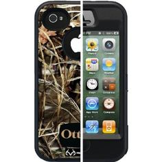 OTTERBOX IPHONE 4S OR 4 MAX 4HD BLACK CAMO REALTREE DEFENDER CASE