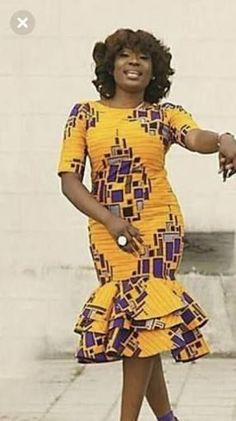 Sew in lace fabric African Fashion Ankara, African Print Dresses, African Print Fashion, Africa Fashion, African Dress, African Attire, African Wear, African Women, Ankara Gown Styles