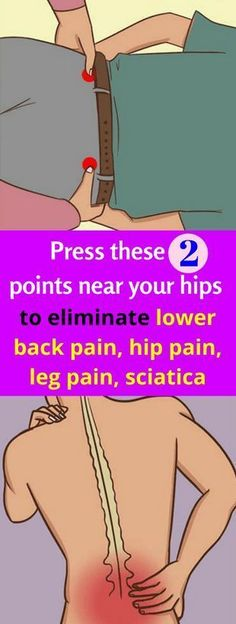 Press These 2 Points Near Your Hips To Eliminate Lower Back Pain, Hip Pain, Leg Pain, Sciatica