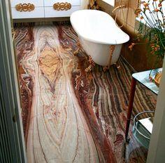 Onyx Slate Tiles for Small Bathroom Designs, Bathroom Floor Tiles modernbathroomtile Cheap Bathroom Flooring, Small Bathroom Tiles, Bathroom Tile Designs, Bathroom Design Small, Simple Bathroom, Small Bathrooms, Bathroom Faucets, Bathroom Closet, Basement Bathroom