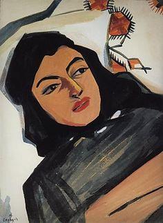 The head of the girl (Mariam Tazahulahyan) - Martiros Sarian