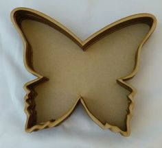 Wood butterfly layer shadow box
