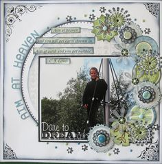 Aim at heaven - Scrapbook.com - Fabulous page. #scrapbooking #layouts