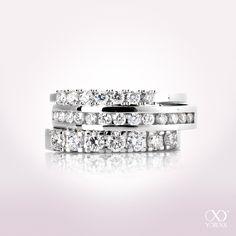 Eternity diamond rings remind of beautiful moments and memories #yorxs #diamantringe #eternityringe