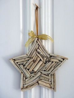 Little twigs of your choosing, a star form, and some hot glue...