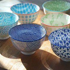 Set Of Four Japanese Dipping Bowls