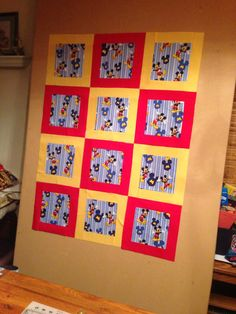 Mickey Mouse Quilt for Marzy