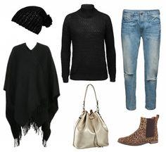 #Herbstoutfit Black loves Black ♥ #outfit #Damenoutfit #outfitdestages #dresslove
