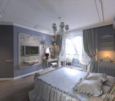 Романтизм в классике: интерьер, квартира, дом, спальня, романтизм, боз-ар, 20 - 30 м2 #interiordesign #apartment #house #bedroom #dormitory #bedchamber #dorm #roost #romantic #20_30m2