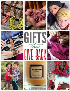 Make your gift-giving count by purchasing from companies that help others
