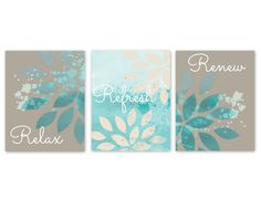 Gray and Turquoise Bathroom Decor Best Of Bathroom Wall Decor Teal Bathroom Decor by Hlbhomedesigns On Etsy Gray Bathroom Walls, Diy Bathroom, Bathroom Wall Decor, Grey Bathrooms, Bathroom Colors, Grey Walls, Bathroom Canvas Art, Brown Bathroom, Bathroom Closet