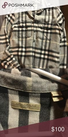 Burberry Shirt/Flannel Brand new Burberry shirt. 100% authentic. Got 2 of them for Christmas(check other listing) and both are not my style at all. It's a size medium and I've worn this one once. Shoot me an offer. Burberry Shirts Casual Button Down Shirts