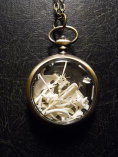 Out of Time Pocketwatch Ossuary with REAL Mouse by TheCuriositeer :: love it, but i would rather the bones not be mixed so i'd know what belongs to whom