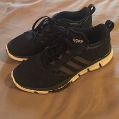 Adidas running shoe navy blue Once worn Adidas running shoes size 6.5 in men's, which fit me perfectly as a 7.5 in women's. Navy blue. Adidas Shoes Athletic Shoes