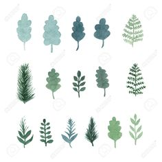 Vector Art : Collection of vector watercolor hand draw leaves and branches Branch Drawing, Branch Vector, Watercolor Leaves, Planting Vegetables, Free Illustrations, Doodle Art, Tree Branches, Royalty Free Images, Vector Art