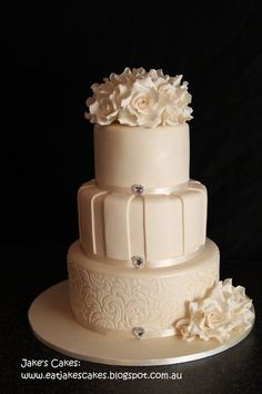 Rose wedding cake  Cake by Jakescakes