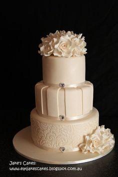 Rose wedding cake  Cake by Jakescakes