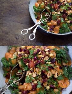 Morrocan Carrot and Chickpea Salad  #vegan
