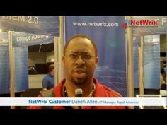 Darien Allen, IT Manager for Rapid Advance talks about his experience with Netwrix Change Reporter at Microsoft TechEd 2012.
