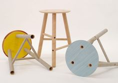 Furniture designed using heavy cardboard tubes
