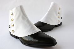 Men's Spats White Ottoman - Dapper Men - Gaiters spats spatterdash by TheGreyDeer on Etsy