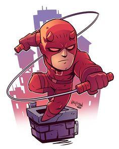 Chibi Daredevil - prints available at www.dereklaufman.com (link in my profile) #daredevil #mattmurdock #fanart #chibi #clipstudiopaint #mangastudio #dereklaufman