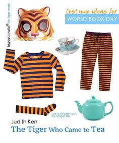 World Book Day easy costume ideas. Dress up as a character from one of your favourite books. Babar outfit idea, Lion dress up idea, Giraffe costume, easy fox mask and Bear mask and costume idea to dress up for world book day. Book Costumes, World Book Day Costumes, Book Character Costumes, Book Week Costume, Book Characters, Easy Diy Costumes, Homemade Costumes, Costume Ideas, Halloween Costumes