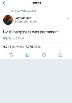 Listen to every Post Malone track @ Iomoio Post Malone Quotes, Post Quotes, Tweet Quotes, Life Quotes, Friend Quotes, Quotes Quotes, Happy Quotes, Talking Quotes, Real Talk Quotes
