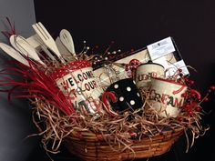 Kitchen basket for gift