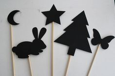 Make Your Own Shadow Puppets with these easy crafts for kids. Use shadow puppet templates with a die cutter, trace and cut your own out of black construction, or use printouts or pages from books to create a bunch of shapes for flashlight stories. Toilet Paper Roll Crafts, Paper Plate Crafts, Paper Crafts For Kids, Easy Crafts For Kids, Projects For Kids, Art For Kids, Construction Paper Crafts, Puppets For Kids, Paper Puppets