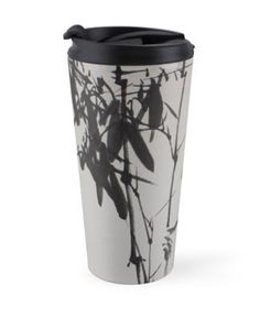 """""""Bamboo and Bird"""" Travel Mugs by aplcollections   Redbubble"""