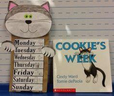Free Cookie's Week Puppet and Activities Calendar Activities, Sequencing Activities, Preschool Books, Kindergarten Literacy, Early Literacy, Book Activities, Preschool Ideas, Teaching Ideas, Math Enrichment
