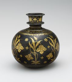 Base for a Water Pipe (Huqqa) with Irises, late century. The Metropolitan Museum of Art, New York. Glass Ceramic, Ceramic Pottery, Blue Pottery, Art Chinois, Art Japonais, Historical Art, Water Pipes, Islamic Art, Metropolitan Museum