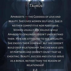 Taurus Traits, Goddess Of Love, Aphrodite, Writing Inspiration, Jealous, Self Love, Cards Against Humanity, Relationship, Star