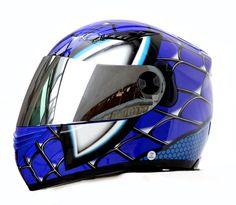 MASEI 830 LIZARD-MAN SPIDER DOT ECE MOTORCYCLE BIKE HELMET BLUE