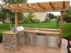 I highly doubt I would use the barbeque much, but I like the idea of outdoor entertainment.