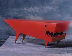 Angry Dog Coffee Table, Red by Bruce Gray eclectic coffee tables