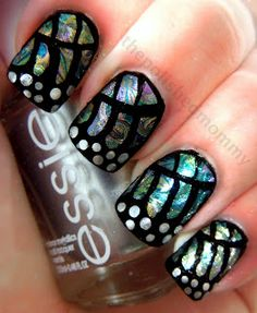 the Polished Mommy used China Glaze Bohemian luster collection for this butterfly nail art design