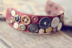 Bohemian Leather Button Cuff
