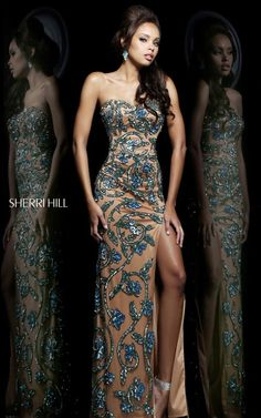 2014 Sherri Hill 1712 Beaded Prom DressesOutlet