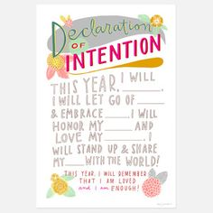 Declaration of Intention, Emily McDowell