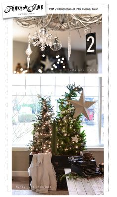 Day 12: A 2012 Christmas JUNK home tour where everything was free! via Funky Junk Interiors #12daysofchristmas
