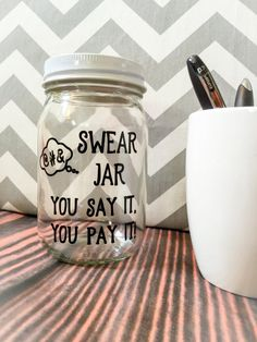 Swear Jar  You Say It You Pay It by CubicleEnvy on Etsy