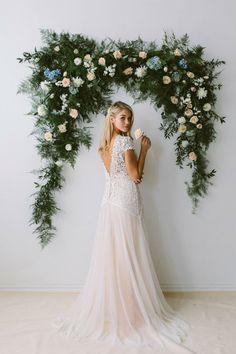 Lace Wedding Dress by Abigail of Gardenia www.elegantwedding.ca