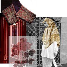 White cotton shirt in 26/11 fashion collage. Russian design. Russian fashion. Luxury goods. Хлопковая белая рубашка.